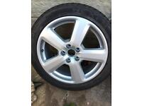 """GENUINE AUDI RS WHEELS 18"""" WITH TYRES"""