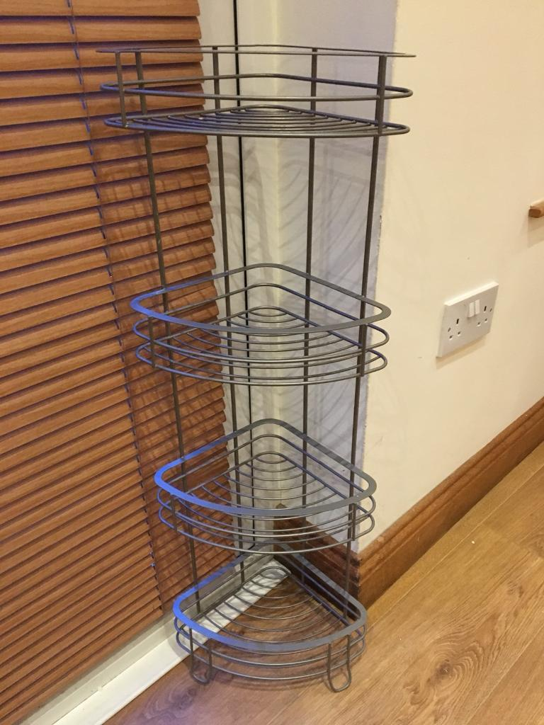 Bathroom Corner Stand - brushed steel (like new) | in Sydenham ...