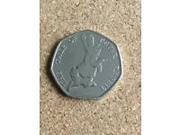 Uncirculated The tale of peter rabbit 50p coin