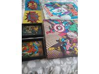 6 pictures/canvases kids bedroom superhero