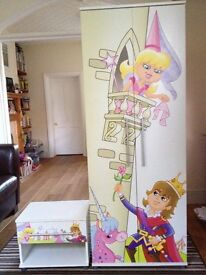 Children's / kids/ Girls wardrobe and draw / bedside table