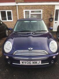 Mini Cooper 1.6, purple, 84000 miles, drives nice