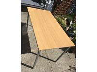 Steel Frame Light Oak Effect Office Table