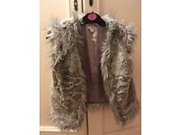 Childs age 5 to 6 Monsoon grey furry body warmer