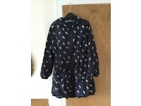 Girls lined rain Jacket age 9-10