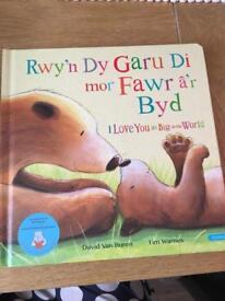 Rwy'n dy garu di mor fawr A'r byd (welsh/English book)