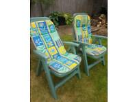 Two Multi positional chairs good condition