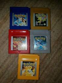 Various Nintendo pokemon gameboy games