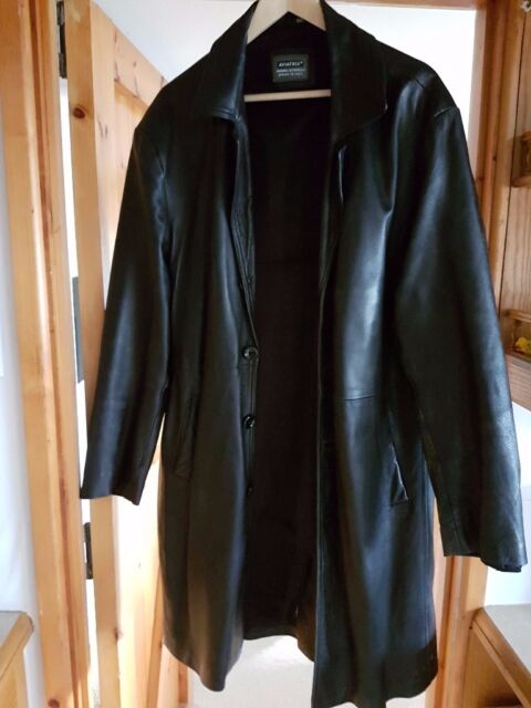 Knee-length Black Leather Jacket - Size 18/20 | in Oxford ...