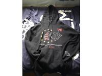 Diamond skateboarding hoodie