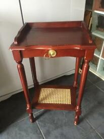 SMALL VINTAGE STYLE HALL/TELEPHONE TABLE WITH DRAWER