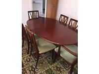 Dining table and 6 chairs table can be extended