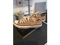 authentic converse all star trainers leopard print size uk 6.5