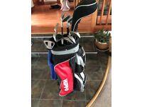 Full Set Mens Golf Clubs - (Spalding Irons, Dunlop Woods and Putter)