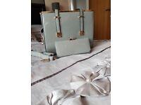 Grey handbag and purse