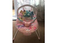 Baby bouncer pink from mothercare