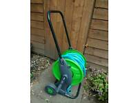 Garden Hose on a trolley reel