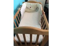 Baby cot with crib