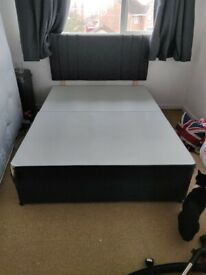 Double Divan Bed 2x Drawers With Headboard (Cosmetic Damage)