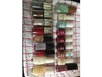 18 various nail polishes