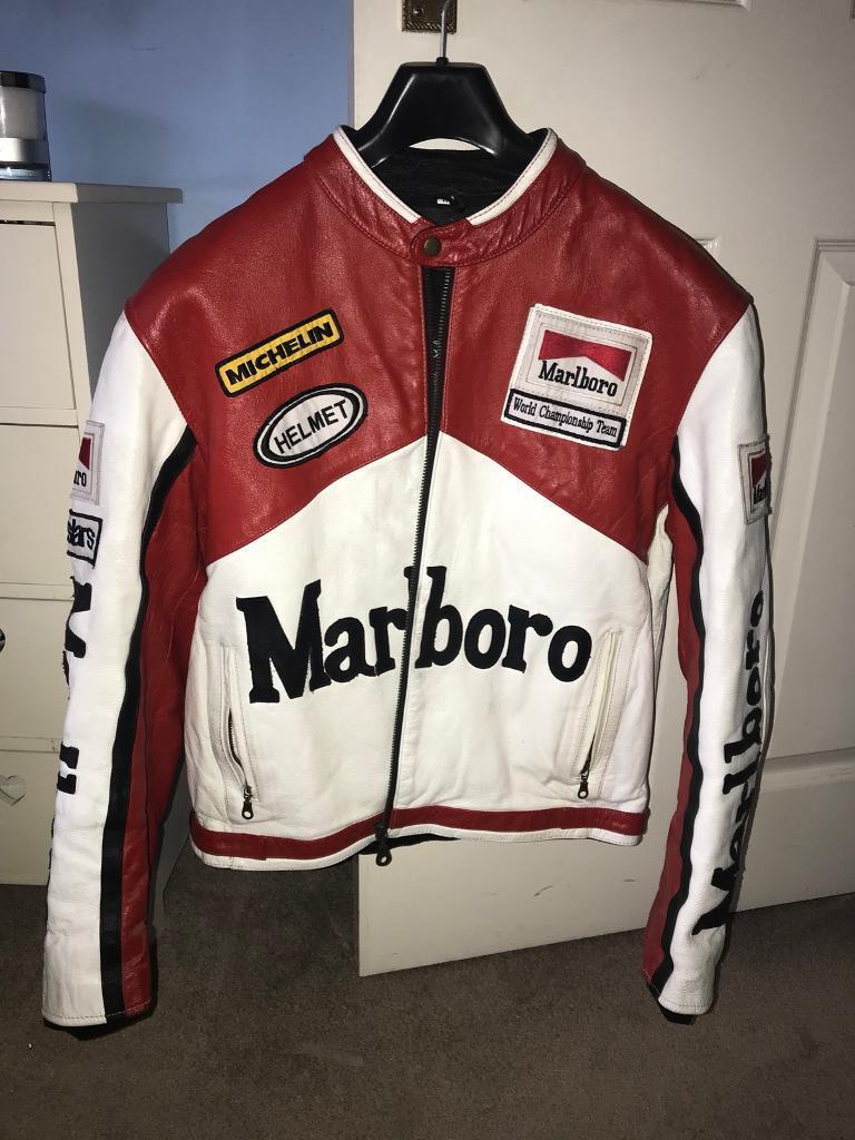 Marlboro Leather Biker Jacket In Emersons Green Bristol