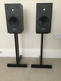 Tannoy E11 speakers with target speaker stands