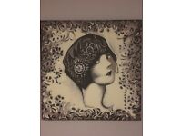 """40"""" Handpainted Charleston Girl Canvas"""
