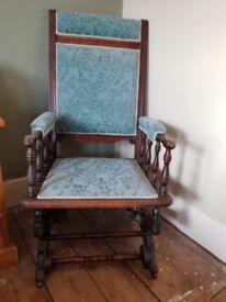Stunning antique American rocking chair