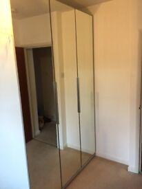 Wardrobe 3 Mirror Doors White from Ikea