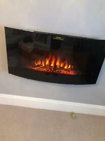 Electric wall hung fire £100