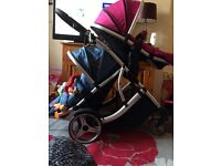 Double Pushchair (Raspberry and Blueberry) Collection only