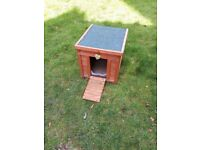 Small rabbit hutch with ramp