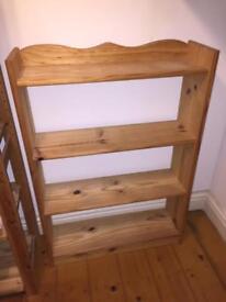 Pine bookshelves - pair