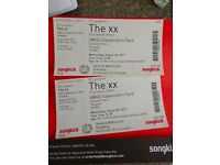 Pair of tickets to The XX on 30th August