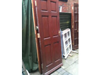 Exterior wooden door with no glass (slight repair)