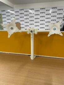 Double Monitor Arm in White or Silver