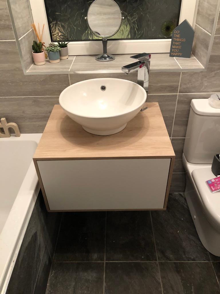 Floating vanity unit, bathroom sink and tap | in Bearsden ...