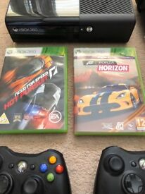X Box 360, 2 games, 2 controllers -IMMACULATE