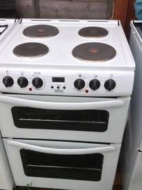 Belling electric cooker double oven and electric grill 60 white