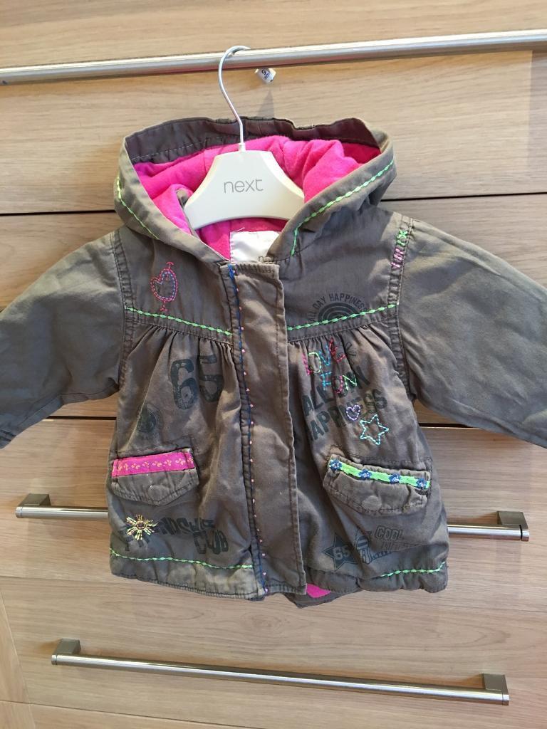 Next 6/9 months khaki jacket with detail