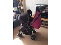 Joie 'Mirus Scenic' Buggy/Pushchair with Reversible Push Bar & Black Maxi Cosi Car Seat 0+