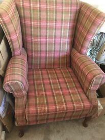 Tartan empire chair