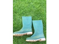 Green Wellies Size 5