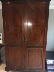 Beautiful antique mahogany wardrobe