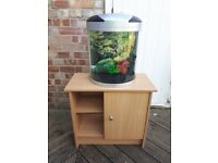 20L Half Moon Fish Tank and Stand