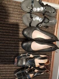 Summer ladies shoes as new great condition size 6