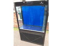 Cleair Pacific 315 Tank & Cab Black marine tropical fishtank aquarium room divider (delivery )