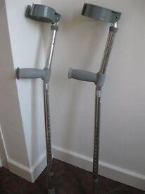 Pair Lightweight Aluminium Adult Elbow Crutches