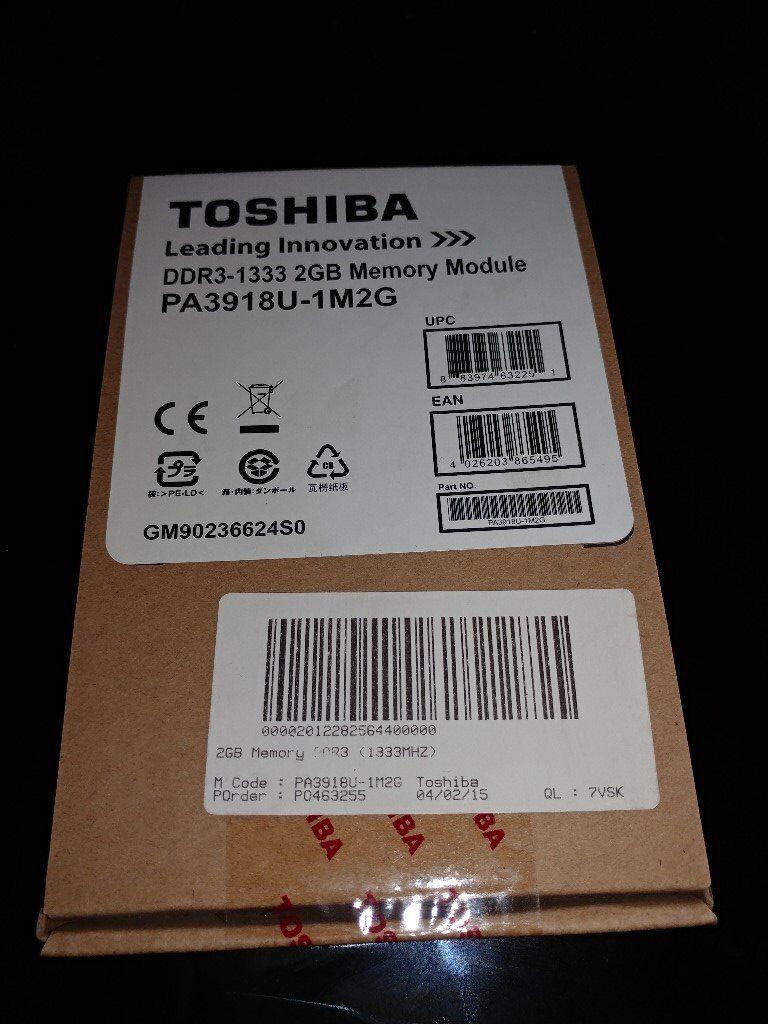 10 x Toshiba 2GB DDR3 SO DIMM - Laptop/Desktop Memory
