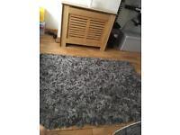 Shaggy grey rug dunelm